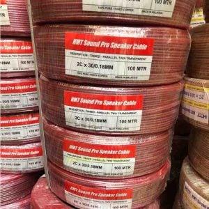 Dây loa HMT-Sound Pro 30/0.18mm màu đỏ
